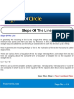Slope of the Line