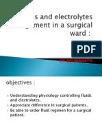 Fluid & Electrolite Management in Surgical Wards
