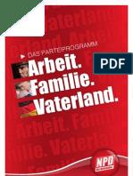 Das Parteiprogramm Der NPD