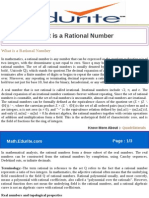 What is a Rational Number