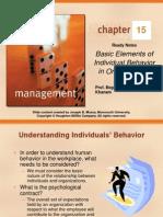 Basic Elements if Individual Behavior