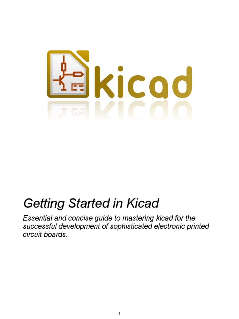 Getting Started in KiCad | Icon (Computing) | Printed