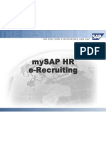 My SAP HR E-Recruiting