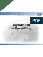 My SAP HR E-Recruiting