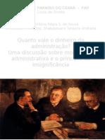 moralidade administrativa e o principio da insignificância