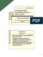 Fundamentos Filosoficos de La Educacion