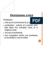 II. Professional Ethics_values
