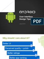 Android UI Design Tips