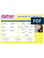 Annuaire Contacts Itafran