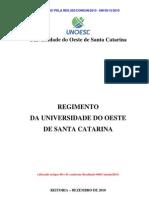 Regimento Da Unoesc Res 202-Consun-2010alterado Em 2011