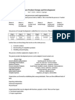 Summary Product Design and Development