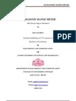 Ultrasonic Range Meter Report