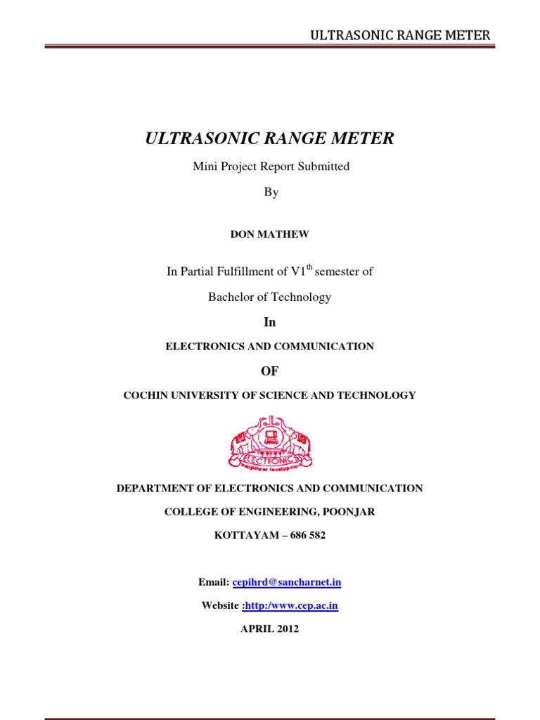 Ultrasonic Range Meter Report Amplifier Printed Circuit Board Circuitprojectscomultrasonic Oscillations Which