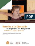 Educacion Personas Con Discapacidad Informe