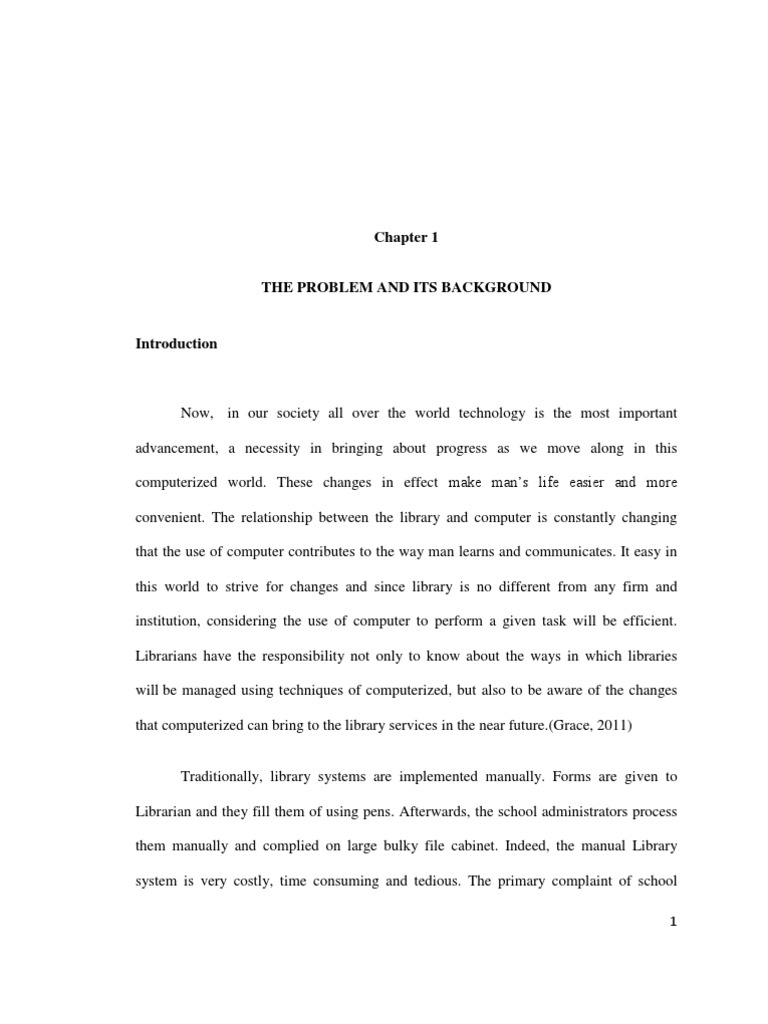 chapter 1 thesis of library system