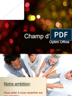 Champs d'Actions d'  Optim Office