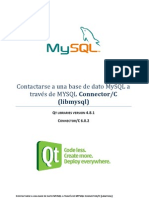 Contactarse a una base de dato MySQL a través de MYSQL Connector