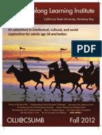 Fall 2012 - Osher Lifelong Learning Institute at California State University Monterey Bay