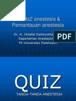 Tanda2 Anestesia & Maintenance Anestesia