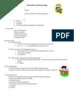 pharmakology