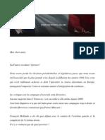 Discours de François Fillon devant les cadres de l'UMP, samedi 7 juillet 2012.