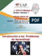 Semana 1  Introducción a los problemas de aprendizaje
