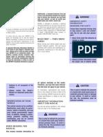 1999 Infiniti I30 Owner's Manual
