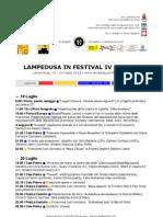 Programma Lampedusa In Festival IV edizione (2012)