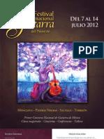 Programa completo del Festival Internacional de Guitarra del Noreste 2012