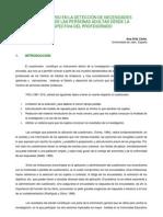 EL CUESTIONARIO EN LA DETECCIÓN DE NECESIDADES FORMATIVAS DE LAS PERSONAS ADULTAS DESDE LA PERSPECTIVA DEL PROFESORADO Ana Ortiz Colón