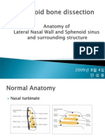 2009년 8월 Ethmoid bone dissection-lateral nasal sinus anatomy