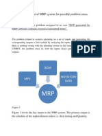 Initial Assessment of MRP System for Possible Problem Areas