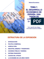 Desarrollo Espana Largo Plazo