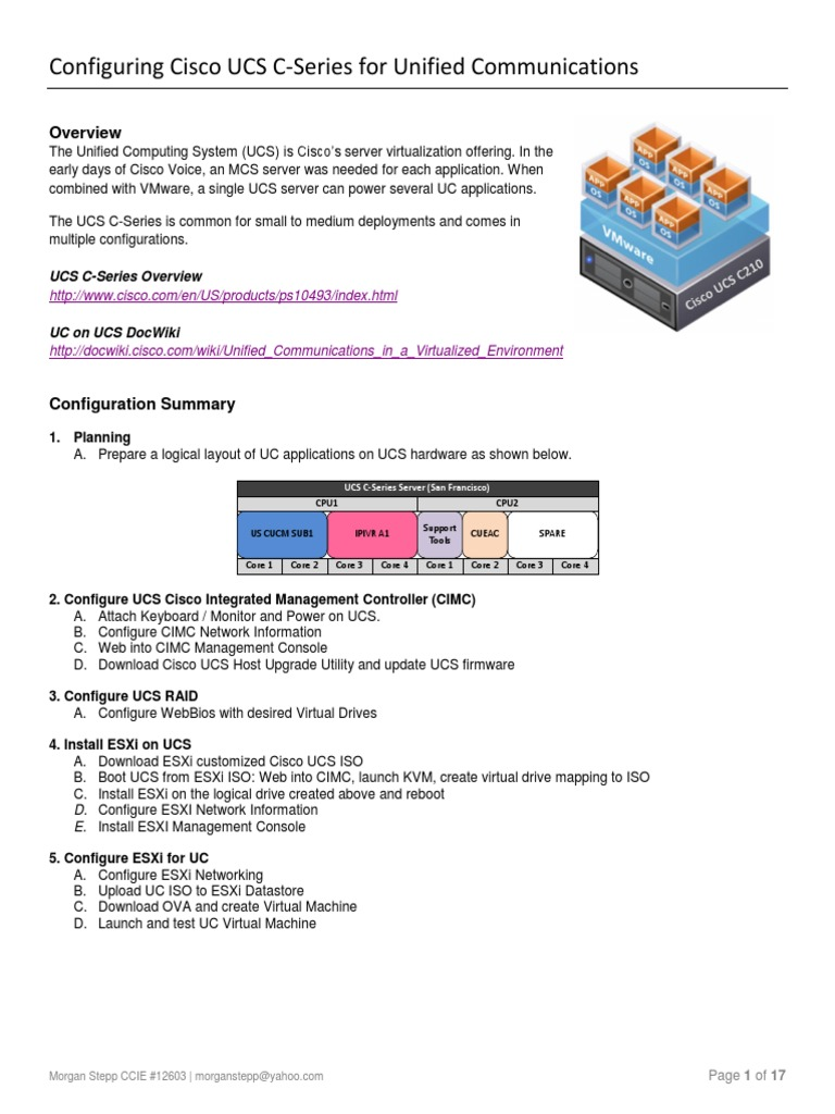 Cisco UC on UCS | Computer Architecture | Computing