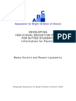 Developing IEPs for Gifted Students