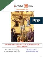 Livret Messe du Précieux-Sang de Jésus / Booklet Mass of the Feast of the Precious Blood of Jesus