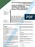 Abnt - Nbr 4378 - Mancais de Deslizamento - Termos Definicoes E Classificacoes - Parte 1 Projeto Materiais Para Mancais E Suas Propriedades
