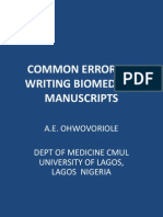 Common Errors in Scientific Manuscripts