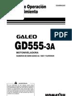 Manual de Operacion y Mantenimiento Motoniveladora Komatsu-GD555-3A