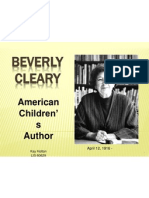 author powerpoint beverly cleary kay holton