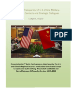 Thayer Enhancing Transparency? U.S.-China Military-to-Military Contacts and Stratregic Dialogue