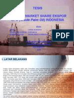 Analisis Market Share Ekspor CPO Indonesia