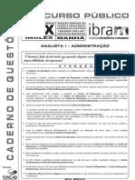 Fundep 2010 Ibram Analista Administracao Ing x Prova