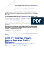 The Implementation of the 2002 Basic Education Curriculum Was Announced in DepEd Order No