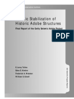 Seismic Stabilization of Historic Adobe Structures Final Report of the Getty Seismic Adobe Project