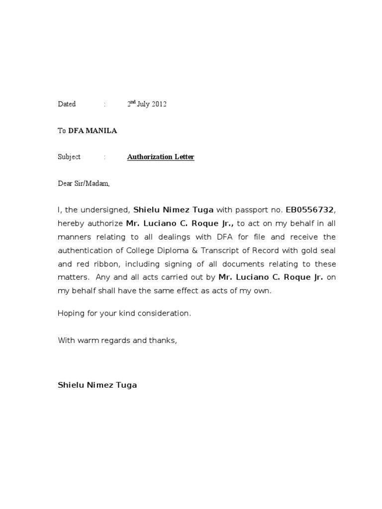 Authorization letter dfa spiritdancerdesigns Images
