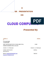 Cloud Computing Basics to Platforms