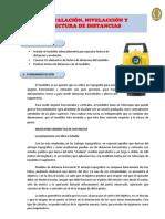Topografia - Informe Experimental N° 02 - Instalación, nivelación y lectura de distancias