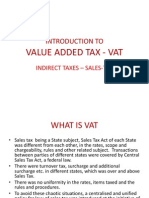 Introduction to Value Added Tax - Vat