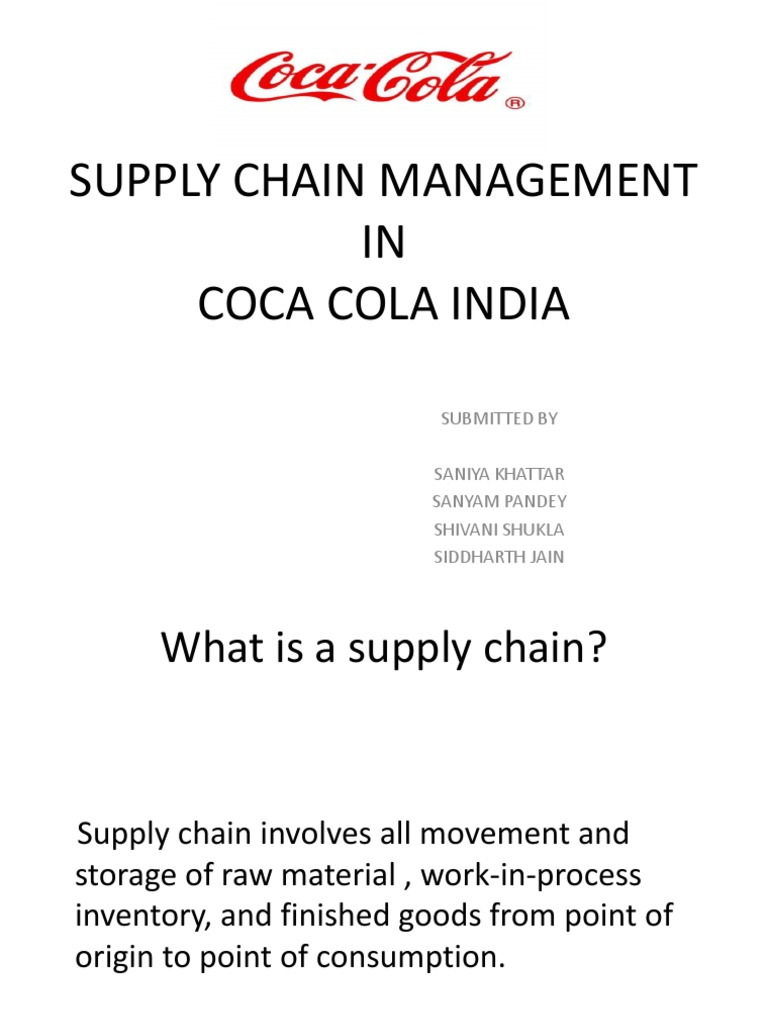 pepsi study on scm Supply chain management  coca-cola vs pepsi: the difference is more than just flavour  the case study follows both pepsi and coca-cola and their progress on .